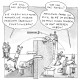 Business Illustration, Cartoon, Christian Ridder, Handbuch Prozessberatung, Marketing vs. Entwicklung
